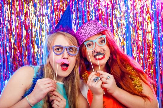 Young nice girls have fun